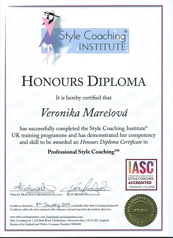 Style Coaching - Honour diploma